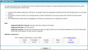 TP-Link USB Storage