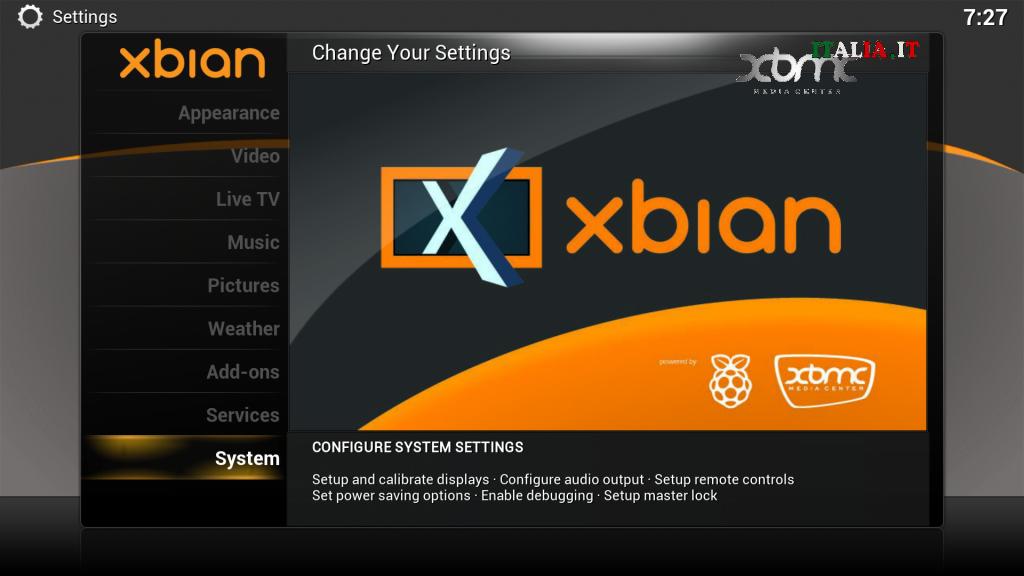 Xbian raspberry pi 3