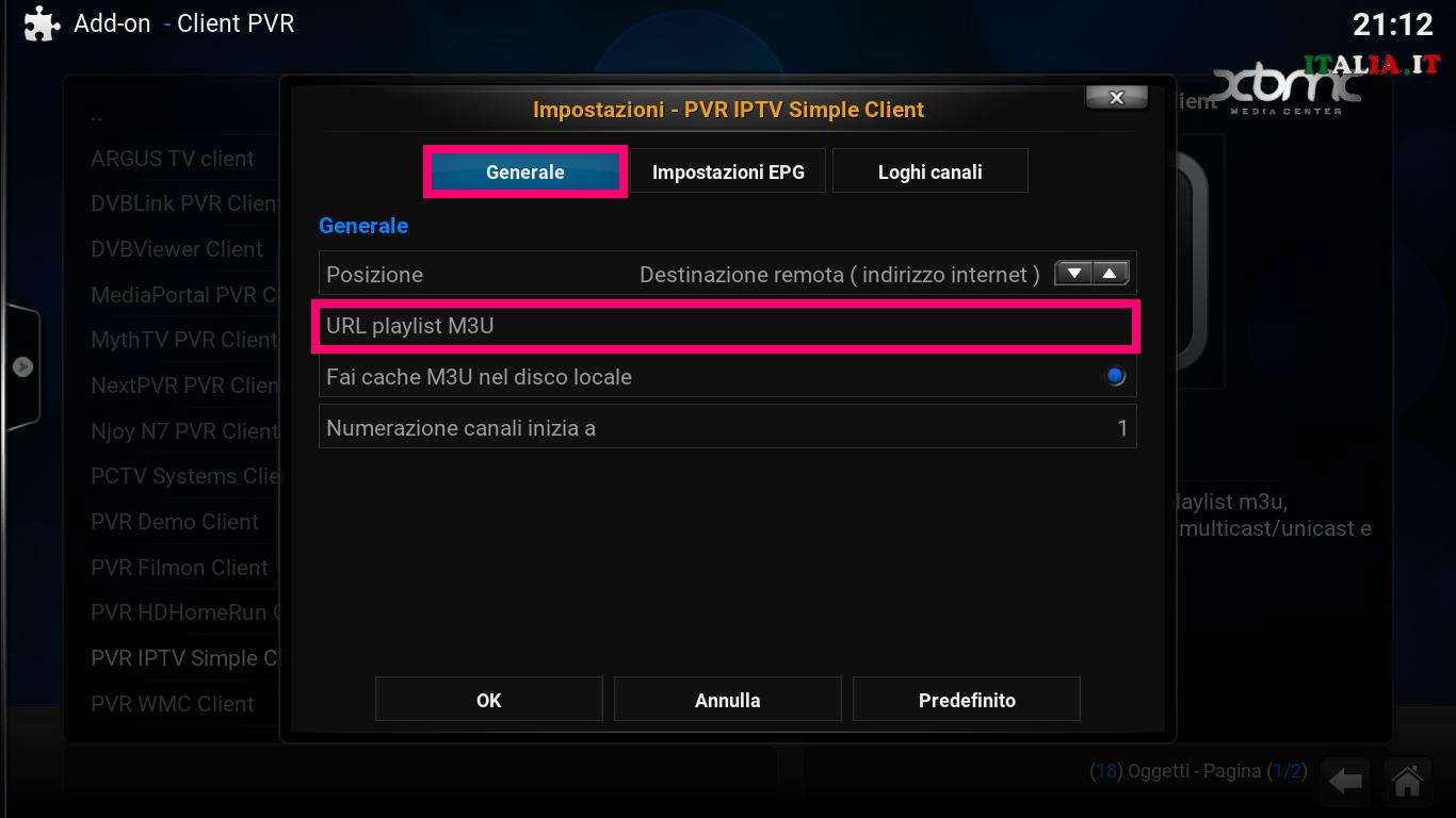 IPTV e Kodi … Liste M3U e configurazione – XBMC-Italia